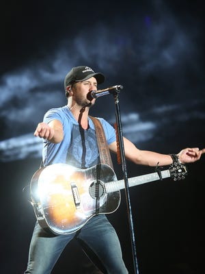 Luke Bryan performs on the Mane Stage at the Stagecoach Country Music Festival , Sunday, April 27, 2014.