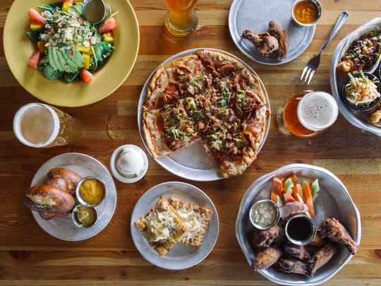 The food menu at Angels Trumpet Ale House in Arcadia