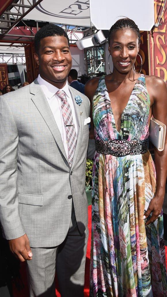 Florida State quarterback Jameis Winston and former WNBA player Lisa Leslie  at the 2014 ESPY Awards