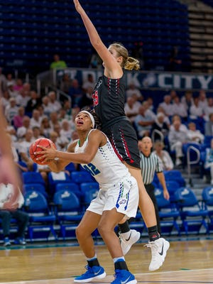 FGCU's always smallish players were quite outsized against Southeastern University during Tuesday night's home win. The Eagles will be even more dwarfed in Alico Arena against No. 20 Kentucky on Friday night.