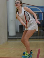 Natasha Pensler, 13, who attends Cranbrook Kingswood, enjoys playing in the BAC junior squash program.