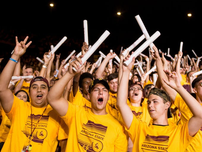 ASU freshmen get a little rowdy during the  freshman