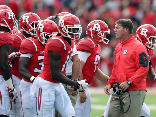 Rutgers head coach Chris Ash and his team.