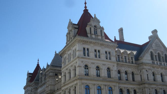 New York's state Capitol building in Albany, NY