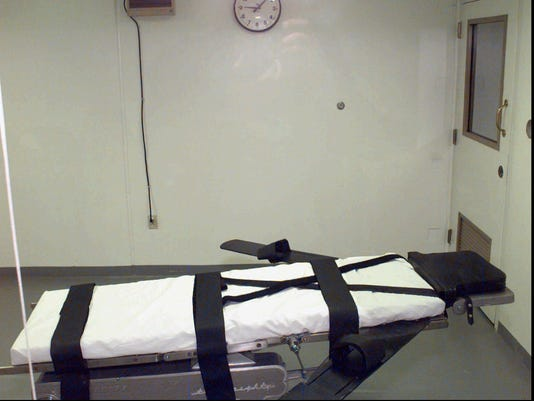 Execution chamber at Oklahoma State Penitentiary