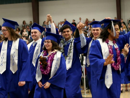 Olympic High School Class of 2018 graduation ceremony