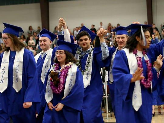 Olympic High School Class of 2018 graduation ceremony at the Kitsap Sun Pavilion on Thursday, June 14, 2018.