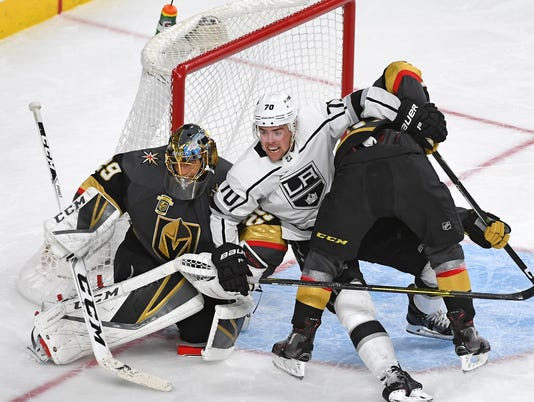 USP NHL: STANLEY CUP PLAYOFFS-LOS ANGELES KINGS AT S HKN VGK LAK USA NV