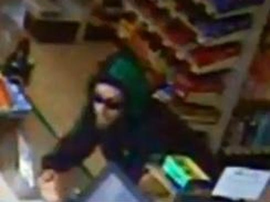 Colchester police have released this picture, taken from surveillance footage at the Simon's Store and Deli on College Parkway, of a man they suspect robbed the store at knifepoint.