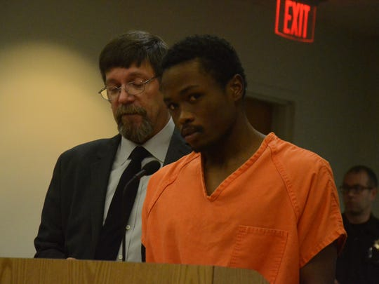Markeese Irby with his attorney, James Sauber.