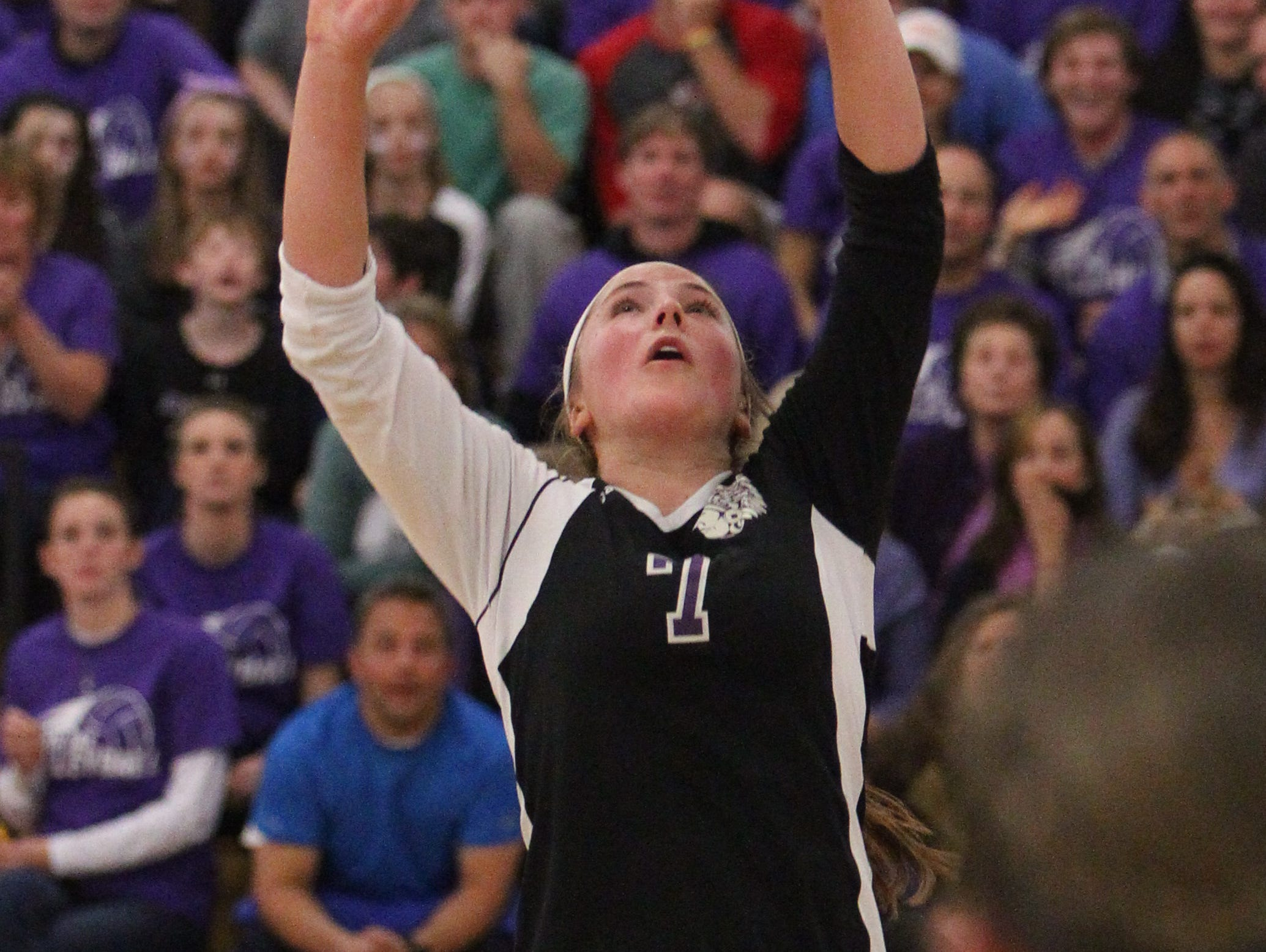John Jay Cross River beat Yorktown in five games in the Class A Section 1 volleyball final at Croton-Harmon Nov. 1, 2014.
