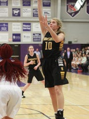 Hendersonville's Brooke Long shoots a jumper against