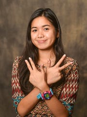 Simon Sanchez High School junior, Sofia Meneses, 17, poses for a photo at the Pacific Daily News studio in Hagatna on Monday, Aug. 31.Frank San Nicolas/Pacific Daily News/fsannicola@guampdn.com