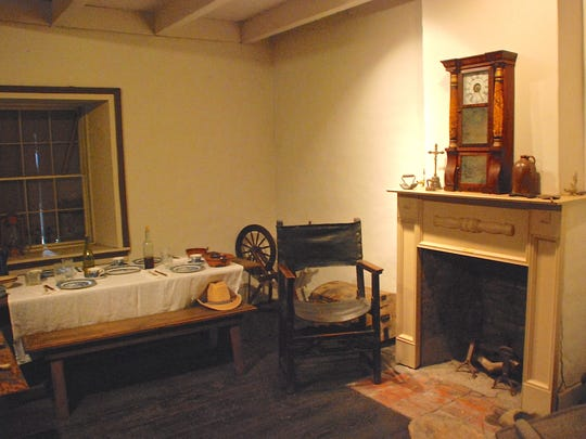 The interior of the Boronda Adobe has been refurbished