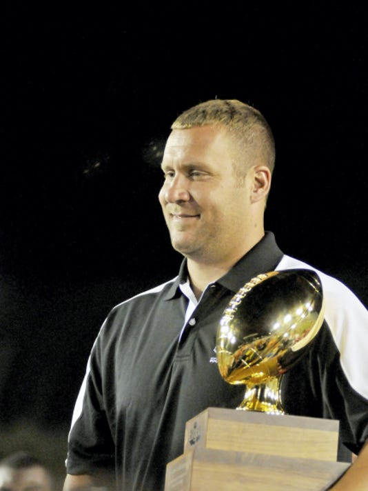PHOTO COURTESY OF BIG 33 Steelers quarterback Ben Roethlisberger served as the Big 33 honorary chairman in 2012. He played for Ohio in 2001.