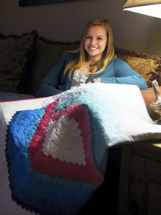 Sophomore Skylar Howard was 13 when she was diagnosed with thyroid cancer. Howard had her thyroid removed during the course of  her treatment. Michael K. Dakota - Lebanon Daily News