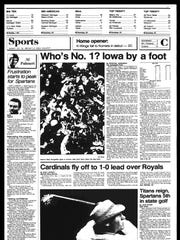 This Week in Sports History - Oct. 15, 1985