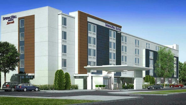 This artist's rendering depicts a 125-room hotel proposed