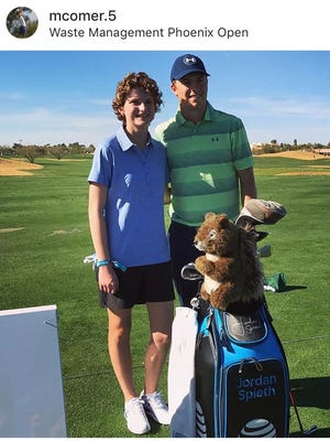 St. Jphn Paul II golfer Morgan Comer, who survived lymphoma, met PGA Tour star Jordan Spieth at the Waste Management Phoenix Open as part of Make-a-Wish granting her wish.
