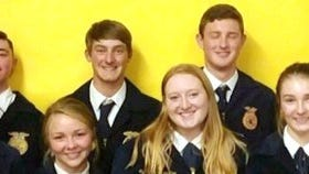 The new Deming High School FFA officers for the 2017-2018 school year are,from left, Renee Heathcox, past chapter president in '06-'07; in the back row, from left, Tyler Johnson, Samuel Turner, Matthew Simpson, Russel Johnson, past chapter officer in '05-'06; and Josh Offutt, past chapter officer in '03-'04. in front, from left, are: Truett Shaffer, MaKayla Robinson, Darbi Harrington and Amie Manos.