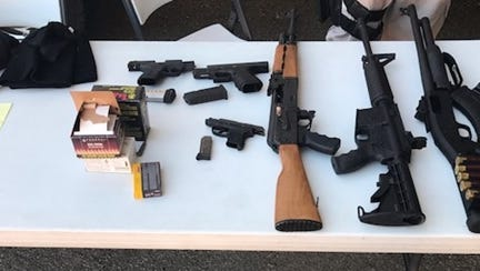 Guns seized by Cathedral City police in 2017.