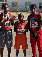 Siblings Aveon, Jaiden and Angelo Grose combined for 10 medals in the regional qualifier for the USA Track and Field Junior Olympics, coming up at the end of the month in North Carolina.