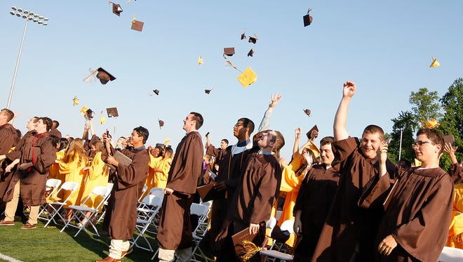 Clarkstown South High School holds their graduation ceremony in West Nyack on Tuesday, June 24, 2014.
