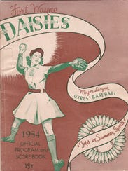 The 1954 program of the Fort Wayne Daisies, from the