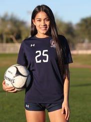 La Quinta High School soccer player Tatiana Woodworth,
