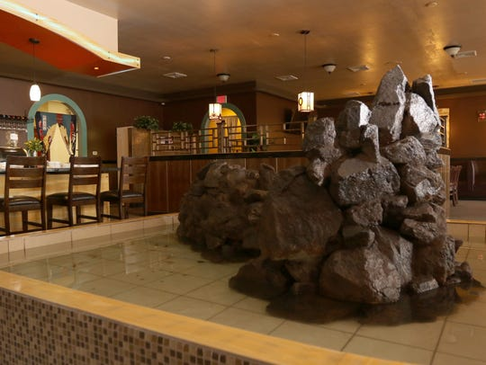 The interior lobby of Fuji Restaurant in Marshfield,