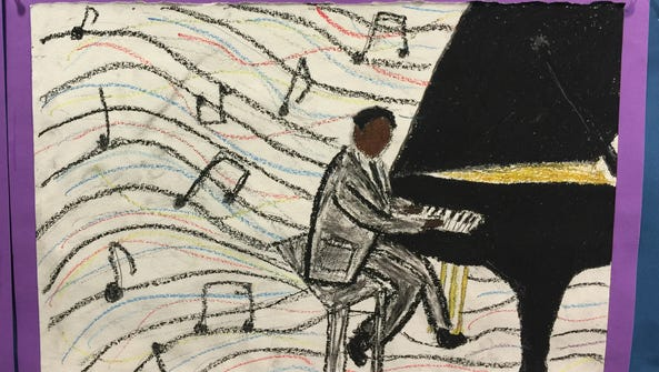 Dutchess Day School eighth-grader Calvin Walker depicts