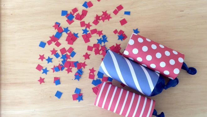 Turn cut up paper, balloons and toilet paper rolls into poppers.