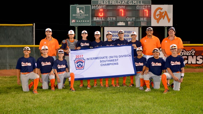 San Angelo Western Little League's intermediate baseball team won the Southwest Regional Tournament title Wednesday with a 7-0 win over a team from Houston to advance to the World Series.