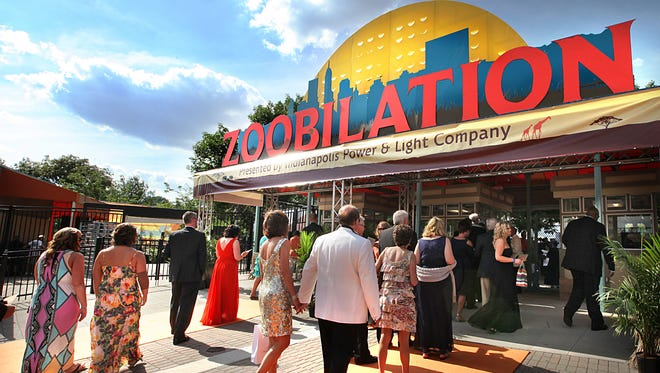An overall of the main entrance to Zoobilation fund raising event.
