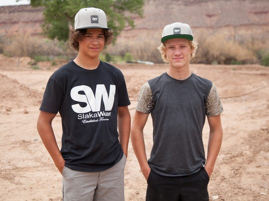 Kayden (left) and Kyson Palmer recently qualified for the AMA National Motocross Championships in Tennessee. The brothers leave for Culloden, Ga. this week to train at the Moto X Compound before heading to the motocross championships in August.