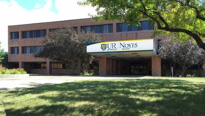 This is a rendering of the sign that will show UR Medicine along with Noyes Health when the affiliation between the two takes effect in January 2016.