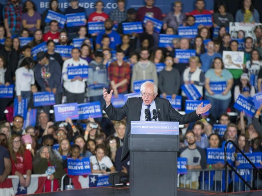 Bernie Sanders Holds Campaign Rally In Madison, Wisconsin