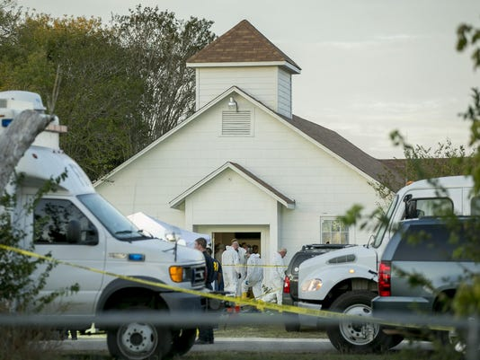 Texas gunman Devin Kelley's in-laws attended church he shot up, but weren't there during the melee
