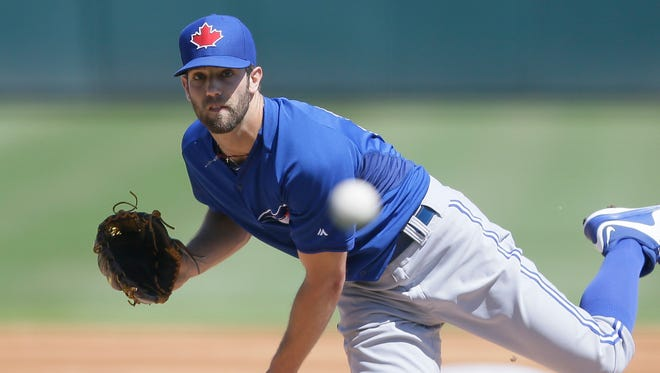 Toronto Blue Jays starting pitcher Daniel Norris throws against the Detroit Tigers in Lakeland, Fla., on March 9, 2015.