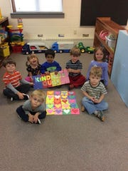 """After reading """"The Kindness Quilt,"""" the preschoolers"""