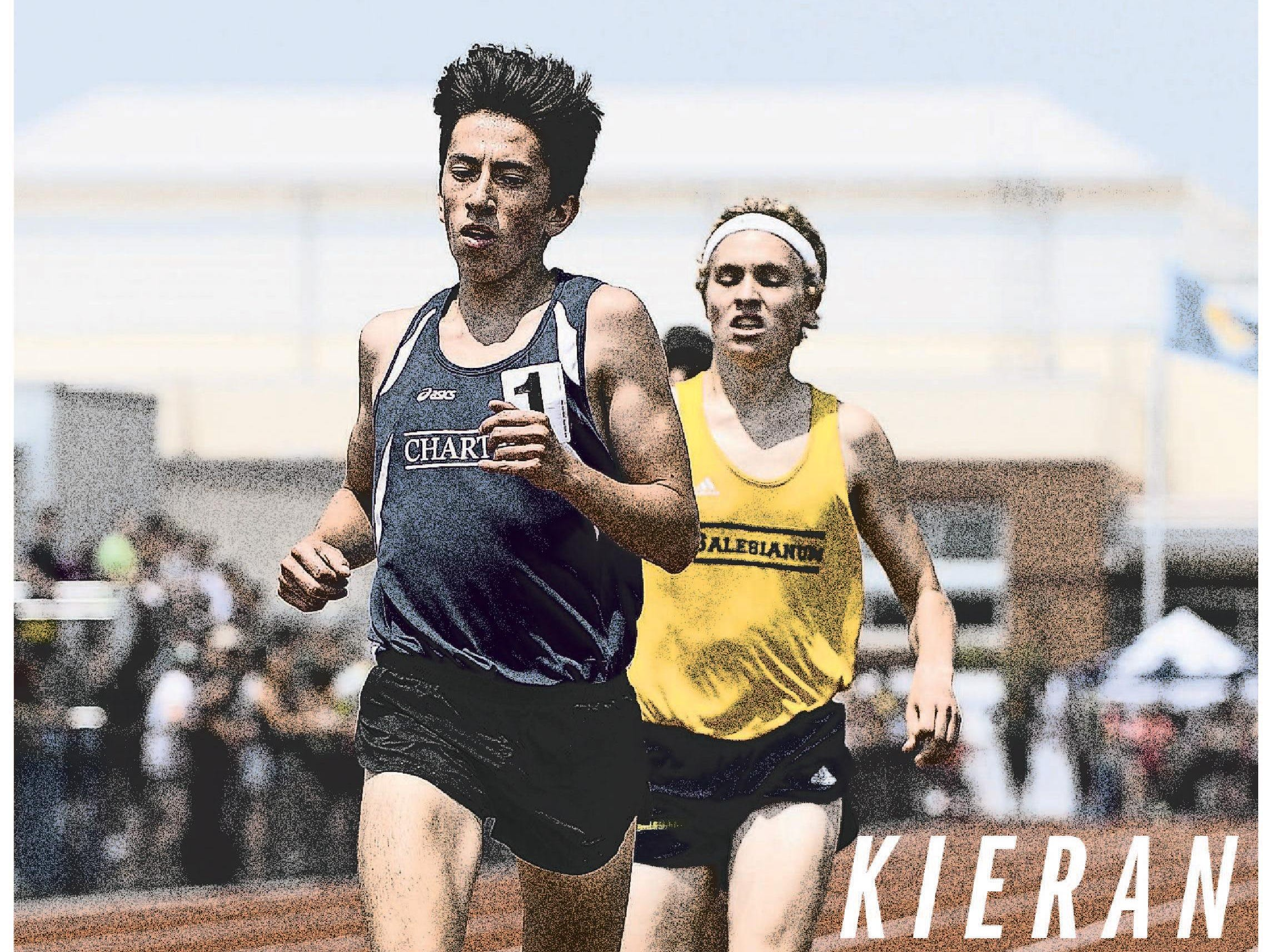 Wilmington Charter's Kieran Tuntivate wins the Division I state title in the 1,600-meter race.