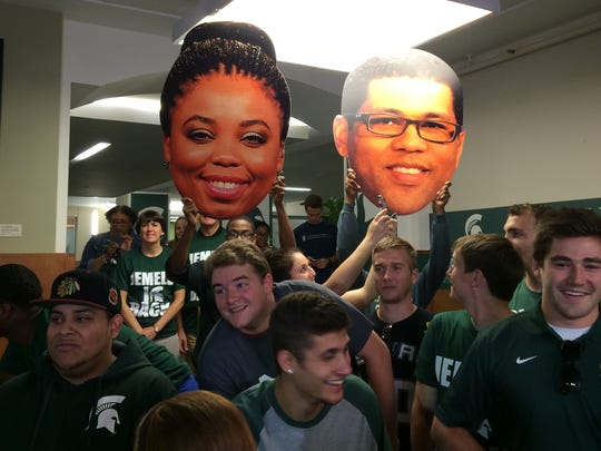 """Michigan State fans attend an episode of ESPN's """"Numbers Never Lie."""""""