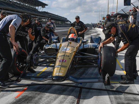 James Hinchcliffe failed to make the field of 33 cars on qualification day for the Indianapolis 500