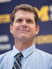 Jim Harbaugh will have a draft March 28 ahead of the