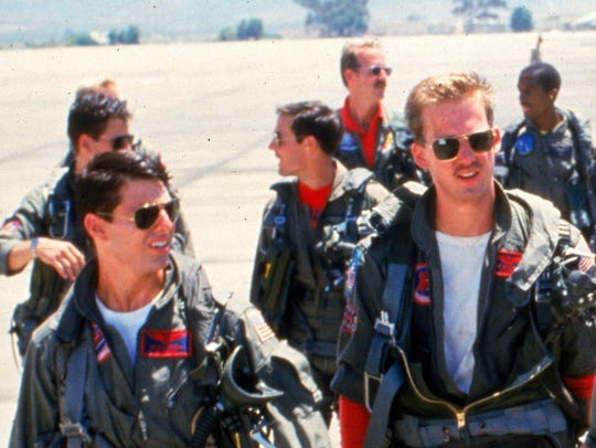 """Tom Cruise (from left) and Anthony Edwards in """"Top"""