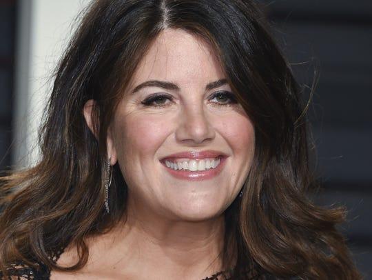 Monica Lewinsky arrives at the Vanity Fair Oscar Party,
