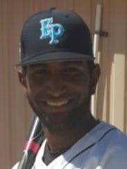 Ell Paso Community College outfielder Bryan Nunez..