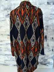 The back of this Aztec jacket makes a dramatic statement.