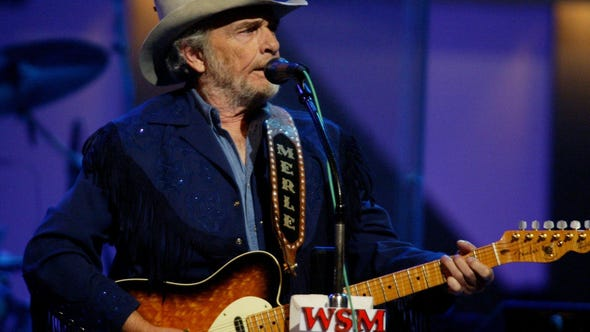 Merle Haggard at The Grand Ole Opry on Sept. 27, 2003.