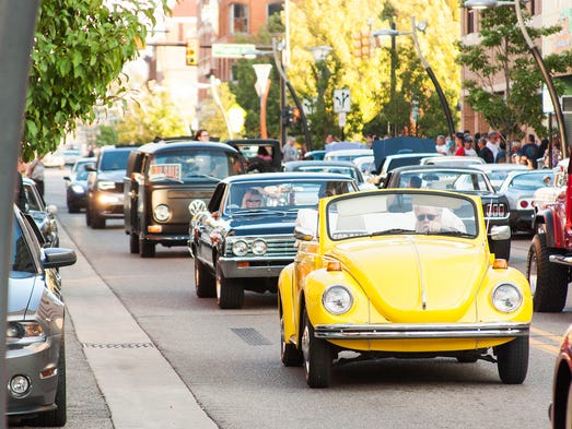 Cars Cruise the Gut Saturday evening in Battle Creek